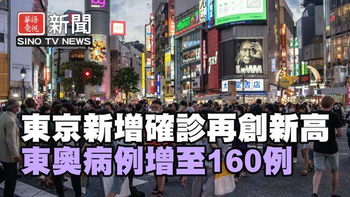 東京新增確診再創新高  東奧病例增至160例
